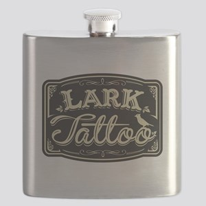 Lark Tattoo - design 3 Flask