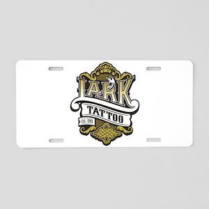 Lark Tattoo - design 4 Aluminum License Plate