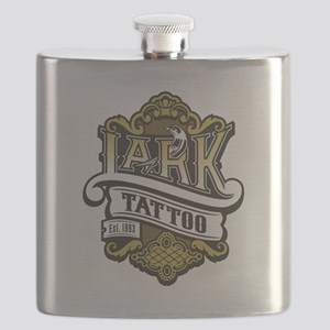 Lark Tattoo - design 4 Flask