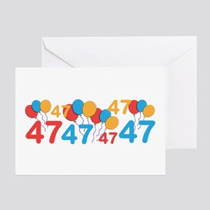 47th Birthday Greeting Cards