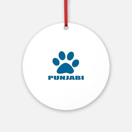 Punjabi Cat Designs Round Ornament