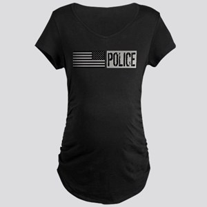 Police: Police (Black Flag) Maternity Dark T-Shirt