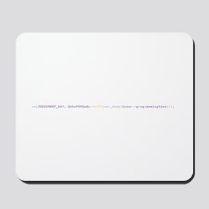 Php Gods On Judgement Day Mousepad