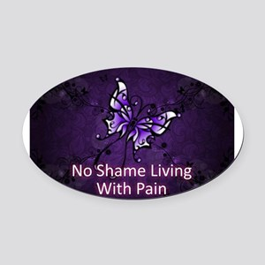 Invisible illnesses Oval Car Magnet