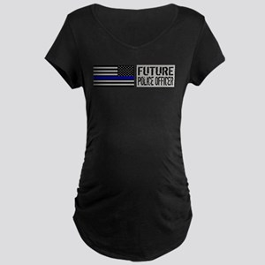 Police: Future Police Offic Maternity Dark T-Shirt