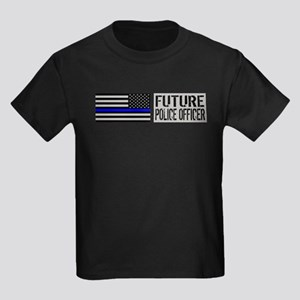 Police: Future Police Officer (B Kids Dark T-Shirt