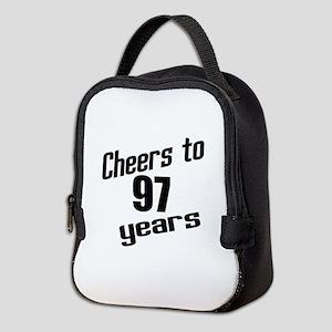 Cheers To 97 Years Birthday Neoprene Lunch Bag