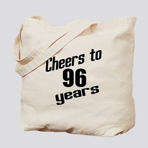 Cheers To 96 Years Birthday Tote Bag