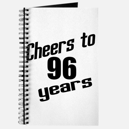 Cheers To 96 Years Birthday Journal