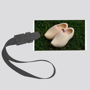 Dutch wooden clogs Large Luggage Tag