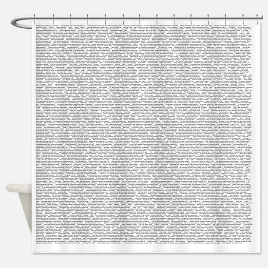 Funny Movie Shower Curtain