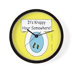 Krappy Hour Wall Clock