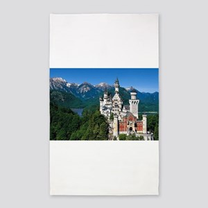 Neuschwanstein Castle Bavaria Germany Area Rug