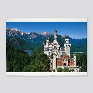 Neuschwanstein Castle Bavaria Germa 5'x7'Area Rug