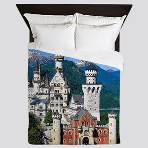 Neuschwanstein Castle Bavaria Germany Queen Duvet