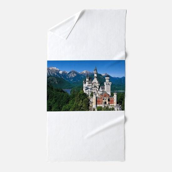 Neuschwanstein Castle Bavaria Germany Beach Towel