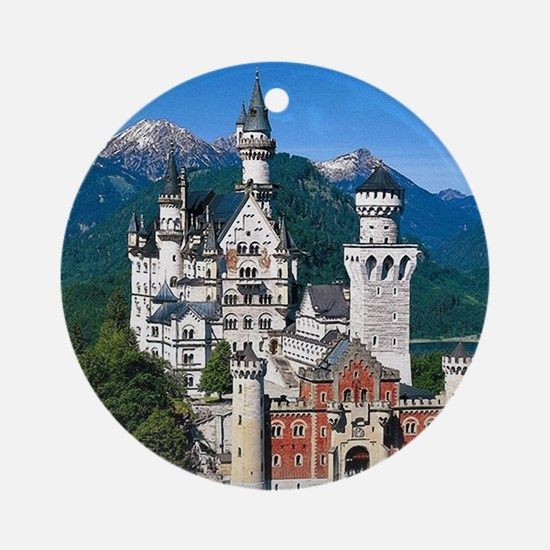 Neuschwanstein Castle Bavaria Germa Round Ornament