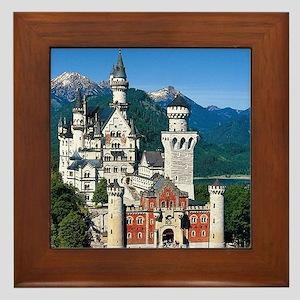 Neuschwanstein Castle Bavaria Germany Framed Tile