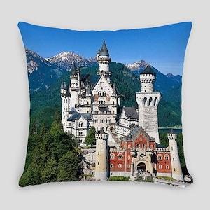 Neuschwanstein Castle Bavaria Germ Everyday Pillow