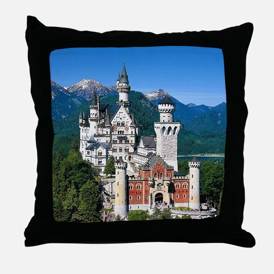 Neuschwanstein Castle Bavaria Germany Throw Pillow