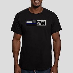 Police: SWAT (Black Fl Men's Fitted T-Shirt (dark)