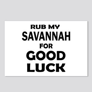 Rub my Savannah for good Postcards (Package of 8)