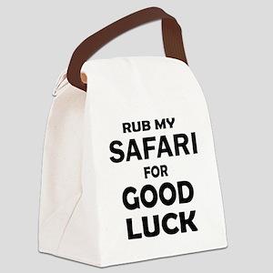 Rub my Safari Cat for good luck Canvas Lunch Bag