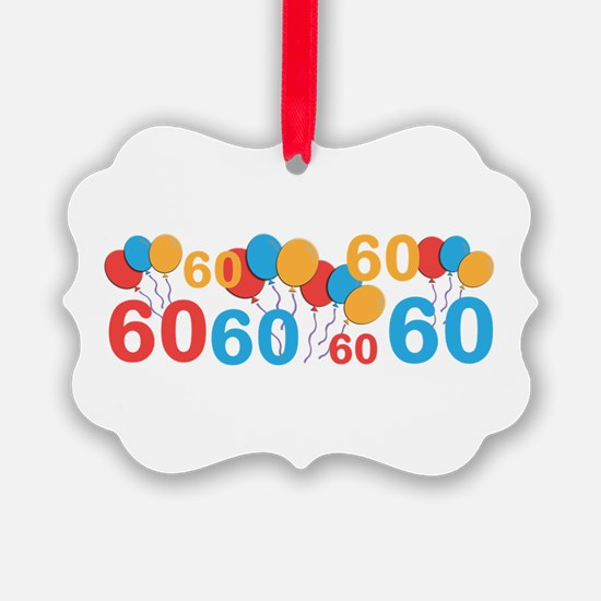 60 years old - 60th Birthday Ornament