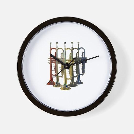 Trumpets Multi Wall Clock