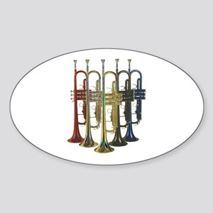 Trumpets Multi Oval Sticker