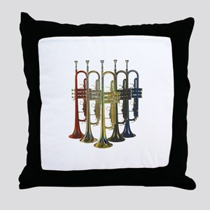 Trumpets Multi Throw Pillow