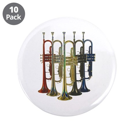 """Trumpets Multi 3.5"""" Button (10 pack)"""