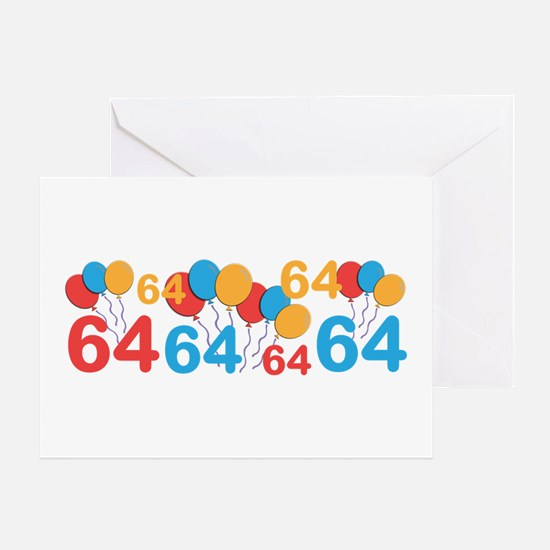 64 years old - 64th Birthday Greeting Cards