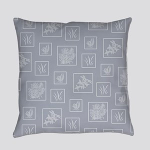 Vintage Floral Pattern Everyday Pillow