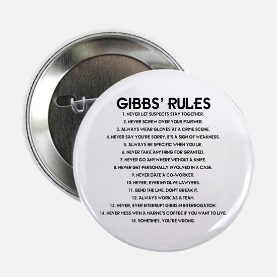 "GIBBS' RULES 2.25"" Button"