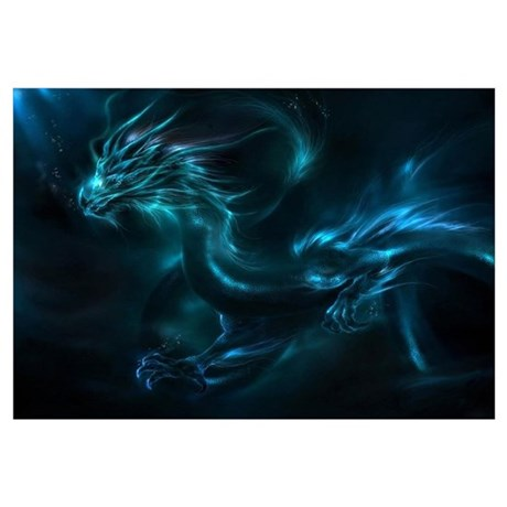 Cute Dragon Wall Art