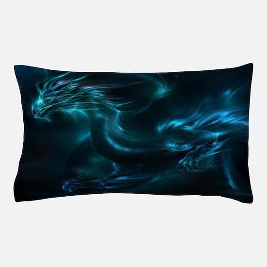 Unique Red dragon blue dragon Pillow Case