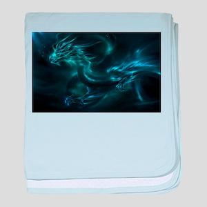 Blue Dragon baby blanket