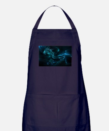 Blue Dragon Apron (dark)