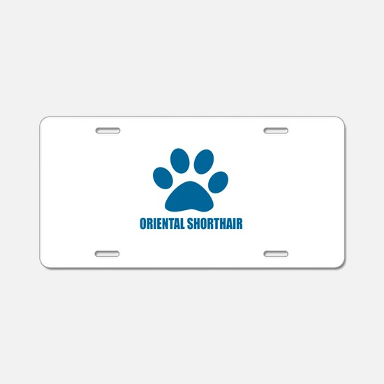 Oriental Shorthair Cat Desi Aluminum License Plate