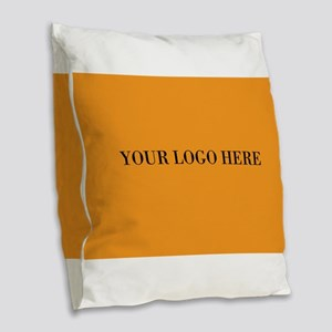 Your Logo Here (Rectangle) Burlap Throw Pillow