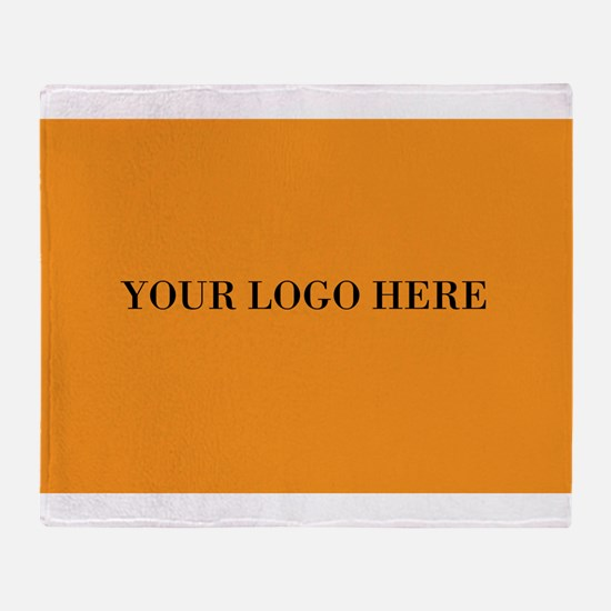 Your Logo Here (Rectangle) Throw Blanket