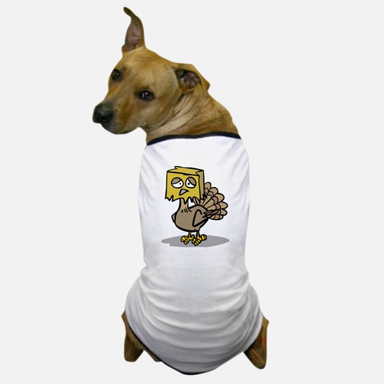 Hiding Paper Bag Head Turkey Dog T-Shirt