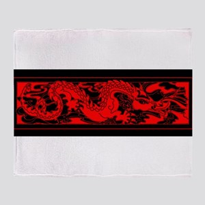 Chinese RED DRAGON Throw Blanket