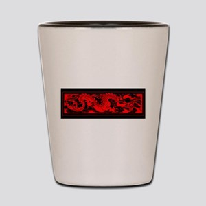 Chinese RED DRAGON Shot Glass
