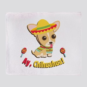 Fiesta Ay Chihuahua Puppy Throw Blanket