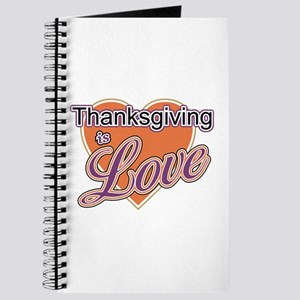 Thanksgiving Is Love Journal