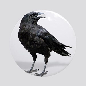 Black Crow (round) Round Ornament