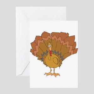 Goofy Turkey Greeting Card