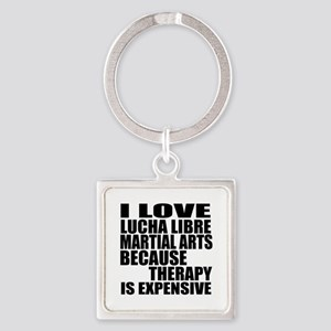 Lucha Libre Martial Arts Therapy Square Keychain